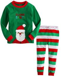 Acheter en ligne Nouvelles robes de filles de noël-Nouveau mode de Noël d'enfants Sleeping Dress Garçons Filles Pyjamas Ensembles Santa Baby Pyjamas Vêtements de couchage Costume de nuit Enfants Accueil Robe