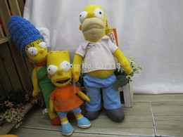 5set 3pcs set The Simpsons Movie cartoon plush toy best gift cute movie toy hot sale 1206#06