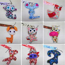 Wholesale 2016 Hot A variety of styles Muppet Korean handmade cloth doll coin bag phone pendant ornaments key