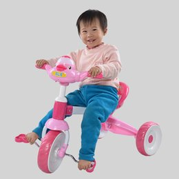 Wholesale New Baby Kids Bike Musical Bicycle Trike Toddler Cute Duck Tricycle Ride On Toys JN0053 salebags