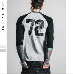 Wholesale INFLATION fashion Mens Baseball Shirt Cotton Casual T Shirts Sleeve Raglan Tee Baseball Jersey