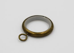 Wholesale 16 mm rod bronze metal curtain hook rings