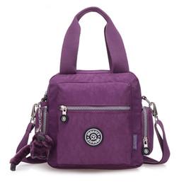 The New Bag Korean Diagonal Travel Bag Canvas Portable Nylon Shoulder Bag Messenger Bag Oxford fabric multi-layer big bag portable