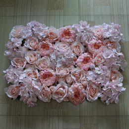 Free Shipping 10pcs   lot Artificial silk roselight pink peony light pink hydrangea flower wall wedding background decoration