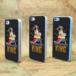 Wholesale Bob King Beautiful Grey Minion Hard Case Cover for iPhone s s SE C s Plus Skin Backhite case