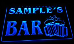 LS589-b Name Personalized Bar Beer Mug Glass Pub Neon Light Sign