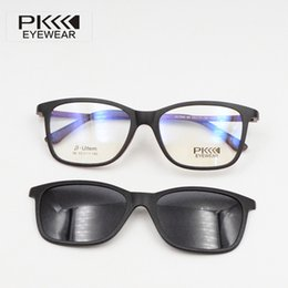 PK Sunglasses Polarized 86 ULTEM Magnetic Clip On Sunglasses Optical frames with magnetic prescription eyewear retro round sunglasses