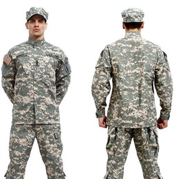Wholesale-BDU ACU Camouflage suit sets Army Military uniform combat Airsoft uniform -Only jacket & pants
