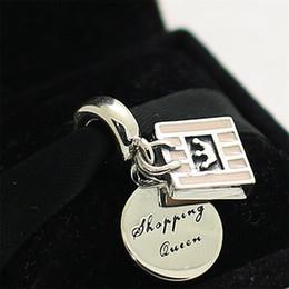 2017 boutiques de charme 2016 Bead Charm Automne Argent 925 Panier Reine Dangle avec Pink Enamel Style européen Bijoux Bracelets Colliers Pendentif boutiques de charme promotion