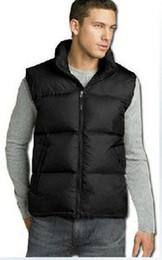 Wholesale 2016 Classic Winter Warm Vests Men s Duck Down Outerwear Sleeveless Waistcoat Vest face men black down jacket vest Parka S XXL