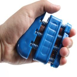 2017 ejercitador de agarre Venta al por mayor a mano dedo Exercizer Grip fortalecedor pesada tensión de la muñeca extender la formación Grip barato ejercitador de agarre