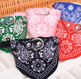 Wholesale Hot Sell Medium Many Colors Adjustable Pet Dog Cat Bandana Collar Scarf NVIE Pet supplies