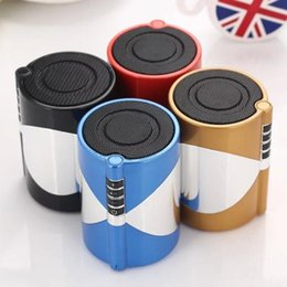 Wholesale Wireless Bluetooth Mini Car Speakers Portable Driver mm Stereo Jack Speaker Amplifier Audio Micophone For iPhone s Samsung Hauwei