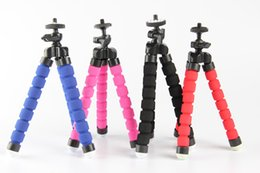 Wholesale Octopus Flexible Mini Tripod Flexible Phone Stands Tripod Mount For iPhone Camera Video Phone quot Screw Adjustable CameraTripod