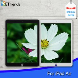 Wholesale High Quality Touch Glass Screen Assembly with Original Repair Parts for iPad air With Home Button M Adhesive DHL