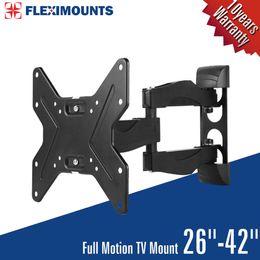LED LCD TV Monitor Wall Mount Bracket Full Motion Tilt & Swivel 26 27 32 36 37 40 42 inch
