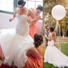 2017 Bridal Dresses China Mermaid Lace And Tulle Straps Backless Wedding Gowns Romantic Country Style Vestido De Casamento