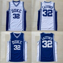 Wholesale Christian Laettner Jersey Duke Blue Devils College Jersey Christian Laettner Men s Stitched Embroidery Logos Basketball Jerseys