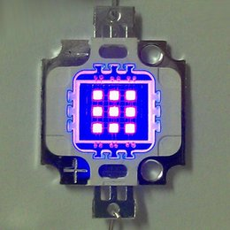 1PCS 10W chip high-power integrated violet UV purple LED chip SMD LED lamp 395-405nm large chip DIY Free Shipping