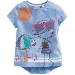 little maven Fashion Girl T-Shirts Top Quality Embroidery Kid T Shirt Girls Clothes Summer Jumper 2-6Years