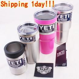 Wholesale 30oz oz oz Pink Yeti Coolers Cups YETI Rambler Tumbler Cup Cars Beer Mug Tumblerful Vacuum Insulated Stainless Steel Mugs DHL Free