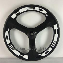 Wholesale T700c road bicycle Rear wheel mm tri spokes wheelset C spoke Clincher Carbon Wheels