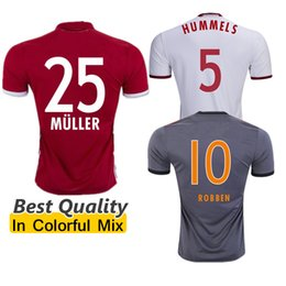 Wholesale Best Quality Bayern Munich jerseys VIDAL COATA LEWANDOWSKI MULLER ROBBEN GOTZE BOATENG ALABA Germany soccer jersey alemanha football