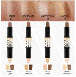 12pcs lot Free Shipping NYX Wonder Stick Concealer Eye Face Makeup Cover Women Med Tan Highligher Light Deep Medium Universal 4 Colors