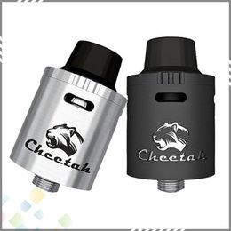 Wholesale Authentic OBS Cheetah RDA Rebuildable Dripping Atomizer Top Airflow Velocity Style Deck mm Black SS Colors fit E Cig DHL Free
