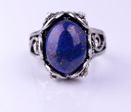 Wholesale Gem Ring Silver Ring Victorian Ring Vintage Ring Purple Blue Ruby Ring Vintage Jewelry Rings for Women Girlfriend s Gift Valentines Gift