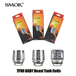 Wholesale Authentic Smok TFV8 BABY Beast Tank Coils Head V8 Baby T8 T6 X4 ohm Q2 ohm Core