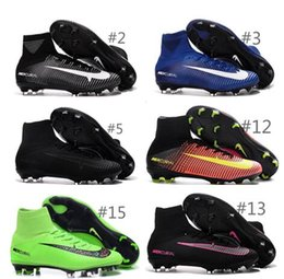 Wholesale 2016 new Original mens V VI Soccer Shoes SuPeRflY MerCURial FG CR7 Football Boots soccer cleats soccer boots hypervenom size mens US6