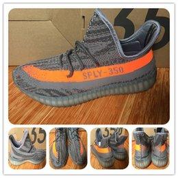 Wholesale Kanye West boost V2 SPLY Running Shoes Boost V2 Sports Trainer Steel Grey Beluga Solar Red Athletics With Original Bag Tag Shoes