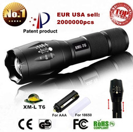 USA EU Hot E17 XM-L T6 3800LM Aluminum Waterproof Zoomable CREE LED Flashlight Torch light for 18650 Rechargeable or AAA Battery