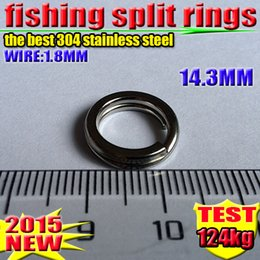 Fishing Lure Accessories best 304 stainless steel 14.3 MM Split Rings 1000 PCS  lot 2016 new arrial