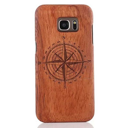 Wholesale Natural wood wooden Case For Samsung Galaxy S7 edge Real Exquisite Handmade Hard mobile phone protection Shell