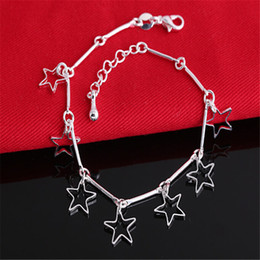 Wholesale Fashion Jewelry 925 Sterling Silver Bracelets 10PCS Free Shipping