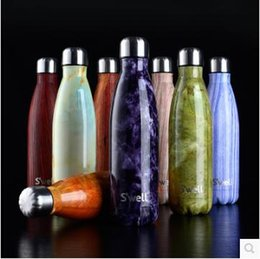 Wholesale Coffee Mug Sleeve - Classical Starbucks S'well Stainless Steel Mug Starbucks Sucker Cup Coffee Cup Long Bottle Thermal Insulation Water Bottle CCA4588 30pcs