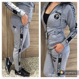 Wholesale HOT Women Sexy Tracksuits Set Woman Clothes Tracksuit Sets Classic Sportswear Fashion Hoodies Jogging Sports Suit