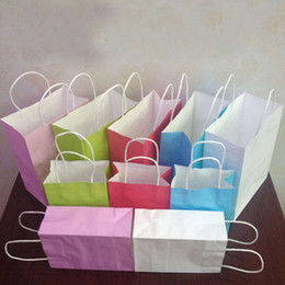 Wholesale Sell like hot cakes in the new paper bag handbag made white leather bag Clothing gift shopping bags advertising bags