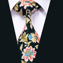 Black Gold Stylish Silk Tie Men's Classic Formal Business Wedding Necktie New Arrival Wide Classic Tie D-1224