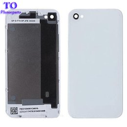 100pcs lot Real battery cover For iPhone 4 4G 4S Back Cover Door Rear Panel Plate Glass Housing free ship by DHL
