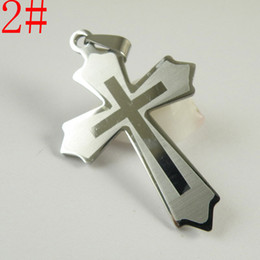 Wholesale Steel Cross Charms For Bracelets - Hot Stainless Steel Cross Charms Embellishments Jewelry Findings Interchangeable DIY Accessories For Pendant Necklace bracelet without chain