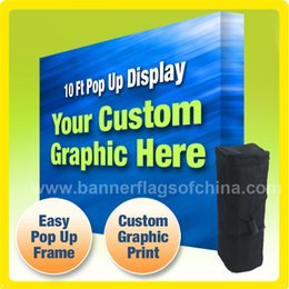 Wholesale 10 Tension Fabric Trade Show Pop Up Stand FREE Printing to West Europe USA CANADA