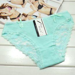 2016 New Lot of 300pcs Laced Cotton Lady Bikini Underwear Spandex Boyleg Stretch Lady Brief Panties Women Boyshort lingerie Sexy Underpants