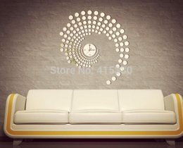 Wholesale stickers shoe Fashion Modern Peacock Dot Sticker DIY Mirror Wall Clock Wall Sticker Home Decoration Anne