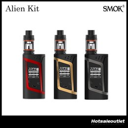 Wholesale Authentic Smok Alien Kit with ml TFV8 Baby Beast Tank w Alien Mod Powered by Batteries Original DHL Free