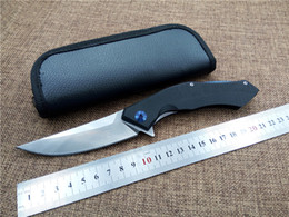 Wholesale D2 blade knives Shirogorov Blue Moon folding knife outdoor tactical survival knife utility camping hand tool with leather bag top quality