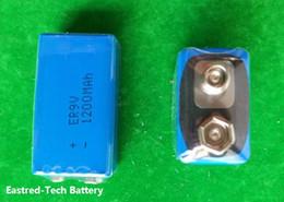 Wholesale 100pcs ER9V lithium battery ER V mAh Block cells for smoke detectors