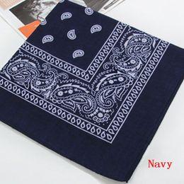 Wholesale 100 Cotton Paisley Bandana Head wrap Cotton Head Wrap Neck Scarf Wristband Handkerchief